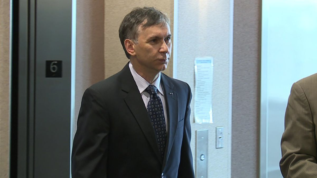 Jim Sideras attends a status hearing on August 9, 2018.