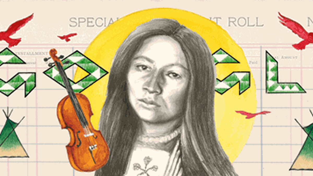 Monday's Google Doodle honors a Yankton Sioux Tribe writer, musician, and activist on her 145th...