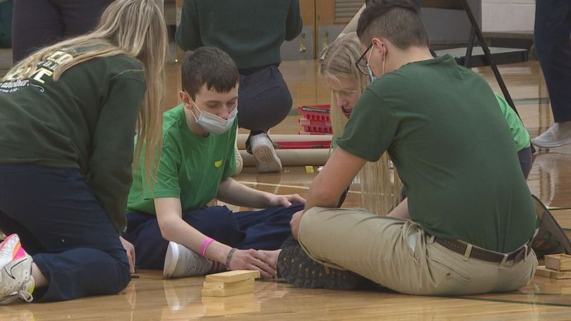 Aberdeen Roncalli's STREAM Day looked different as members of the Robotics team led the day.