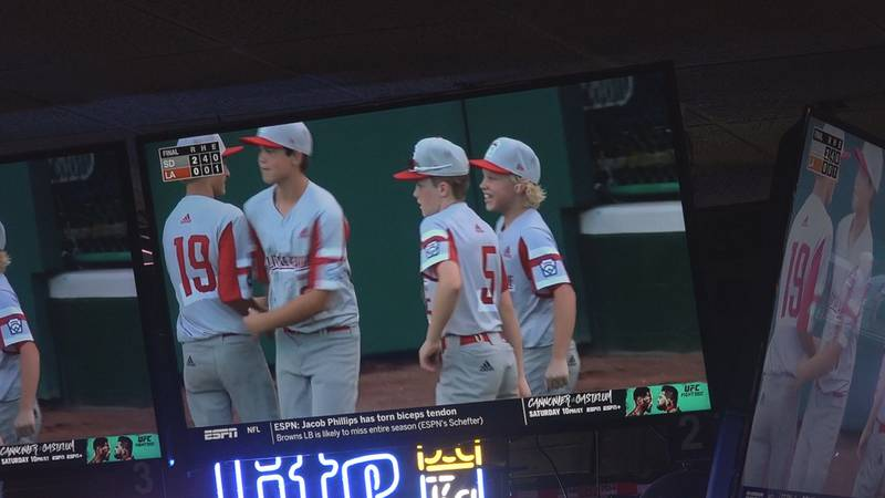 The bar held a viewing party for those wanting to watch Friday's Little League World Series...
