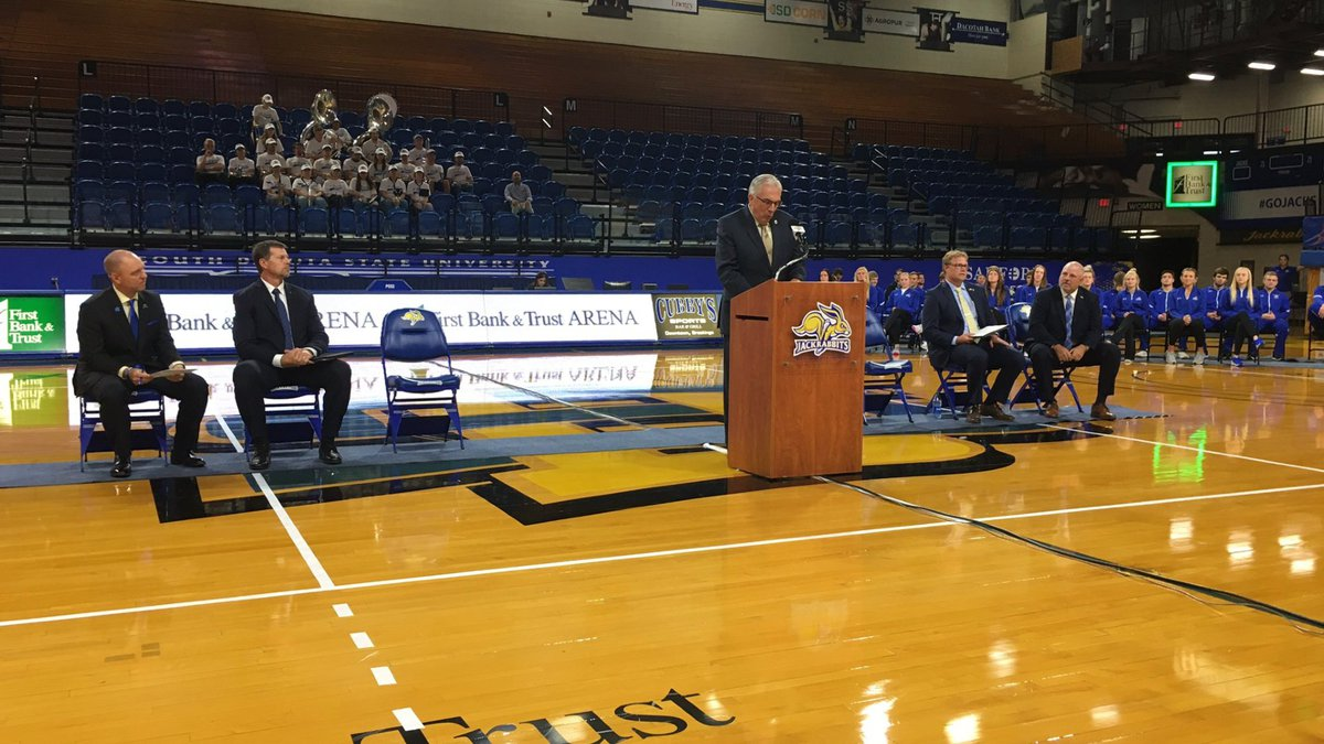 South Dakota State University Athletics officials announced a complete renovation of Frost Arena.