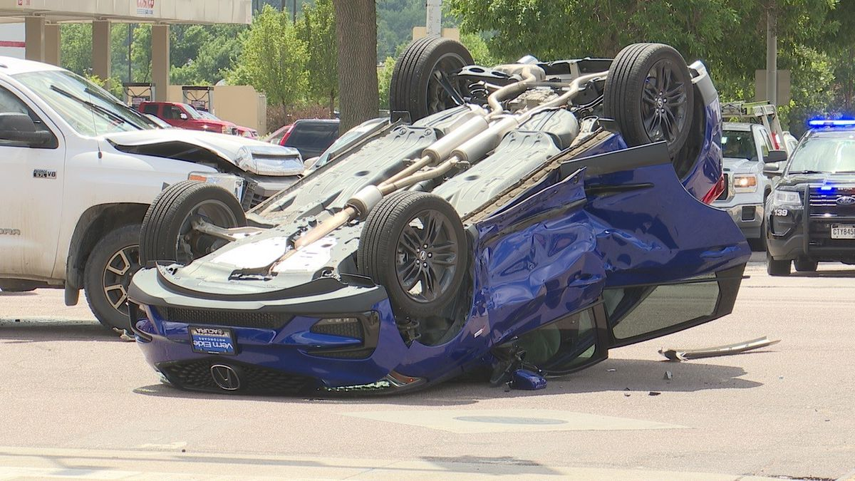 Aftermath of Thursday's crash on 41st Street in Sioux Falls
