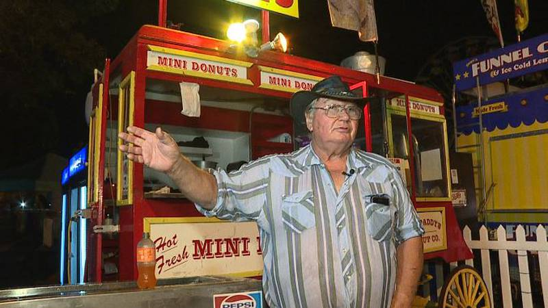 Ray Zajac talk about his food trailers parked at the Sioux Empire Fair.