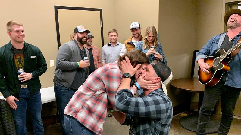 Credit: Paper and Pleather Country artist Lee Brice helps Sioux Falls man propose to his...