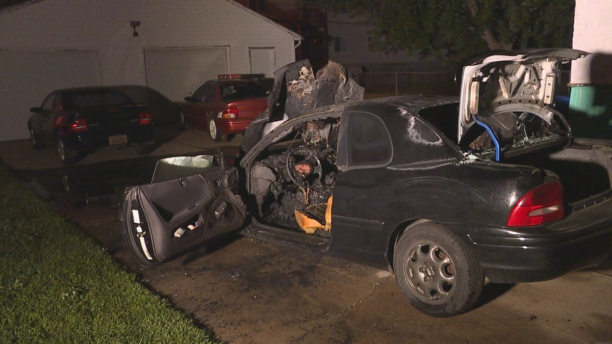 Sioux Falls Fire Rescue is investigating after a car caught on fire early Wednesday morning.