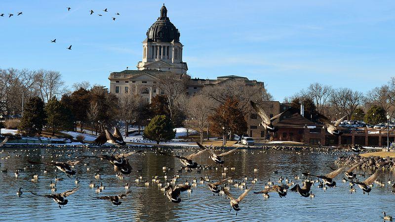 South Dakota Capitol grounds (file photo)