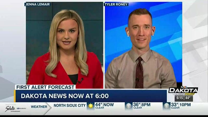 First Alert Meteorologist Tyler Roney's Saturday Night Forecast