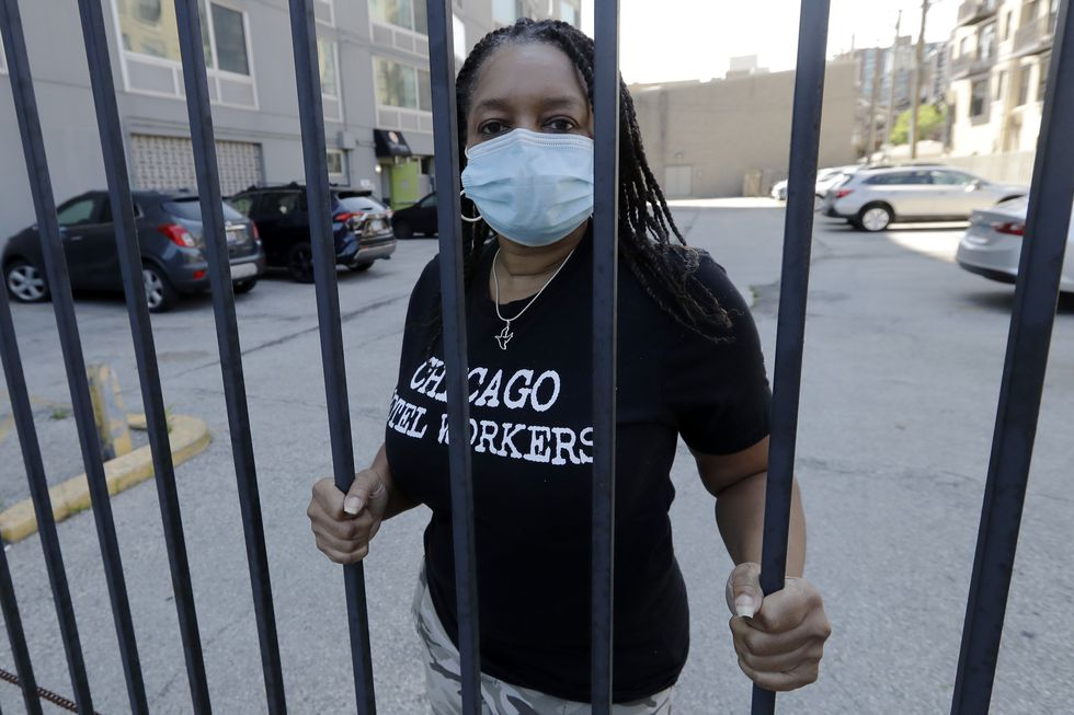 Roushaunda Williams poses for a photo in Chicago Thursday, July, 23, 2020. Financial challenges...