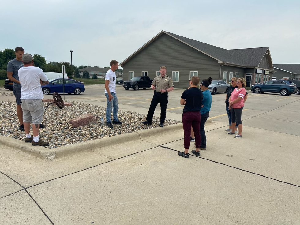 Volunteers gathered Monday to search at hotels, gas stations, bars, and other frequently...