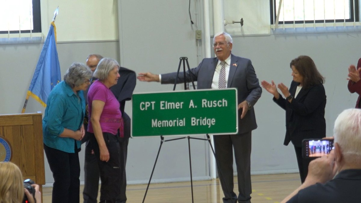 The U.S. Department of Veteran Affairs held a bridge dedication on the South Dakota State...