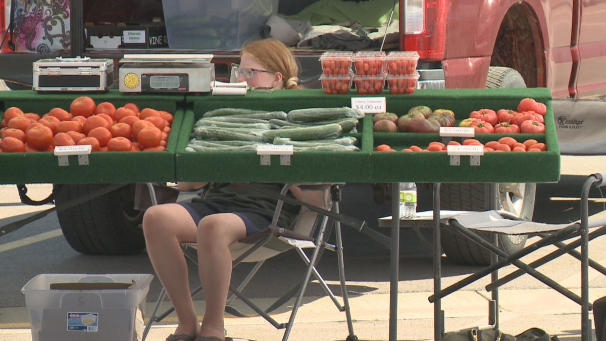 The weekday farmer's market is back at Lake Lorraine for the summer.