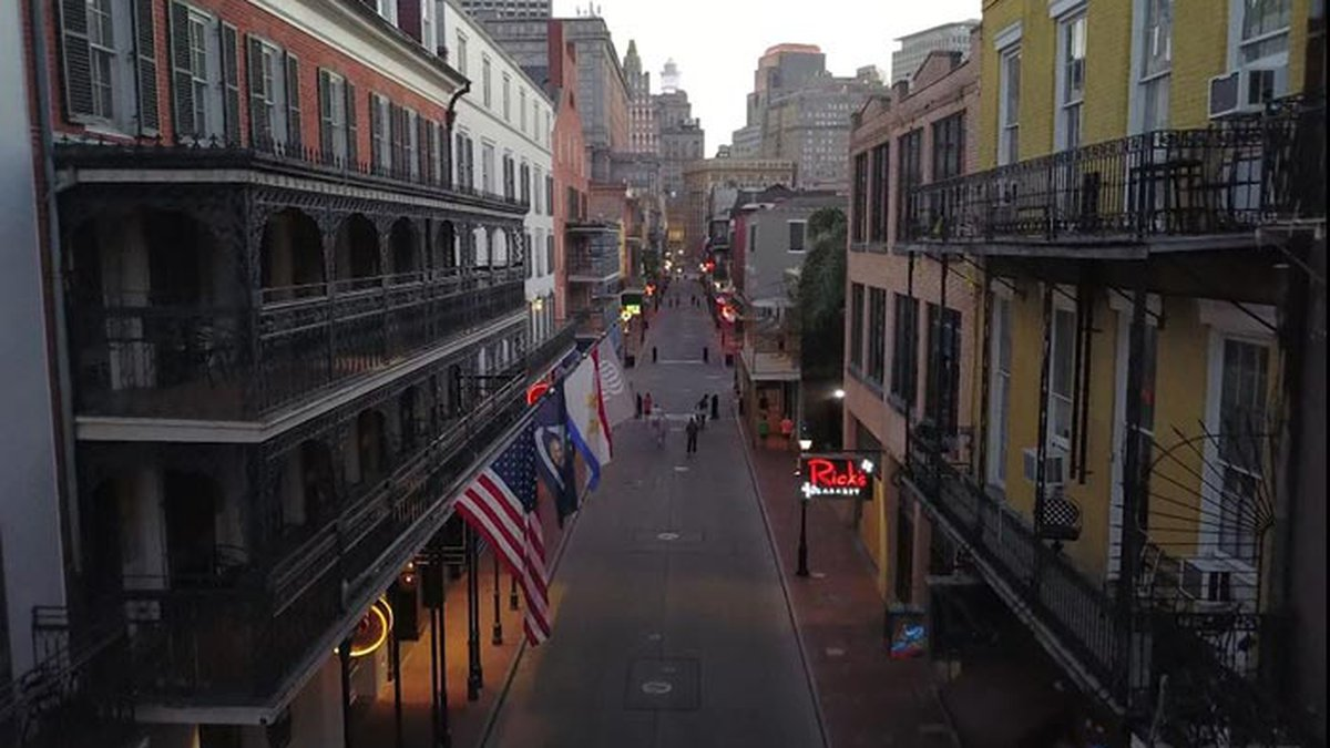 The streets of New Orleans are unusually quiet during the pandemic. (Source: CNN)