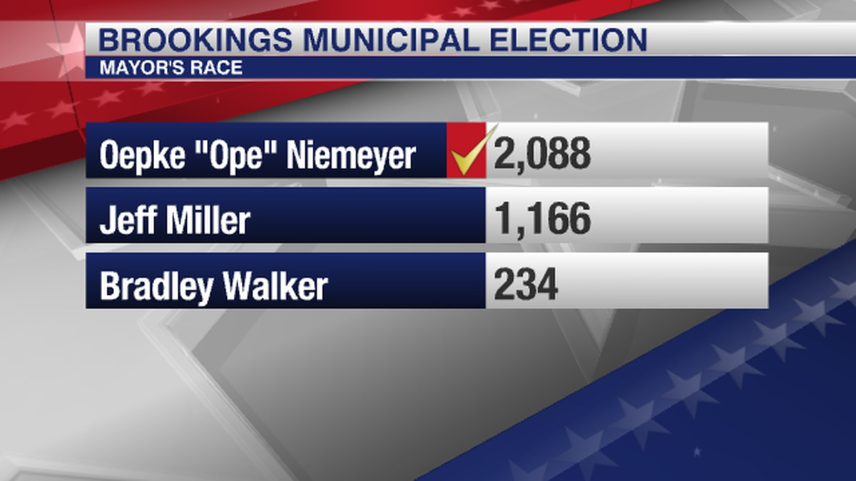 Brookings Election Results
