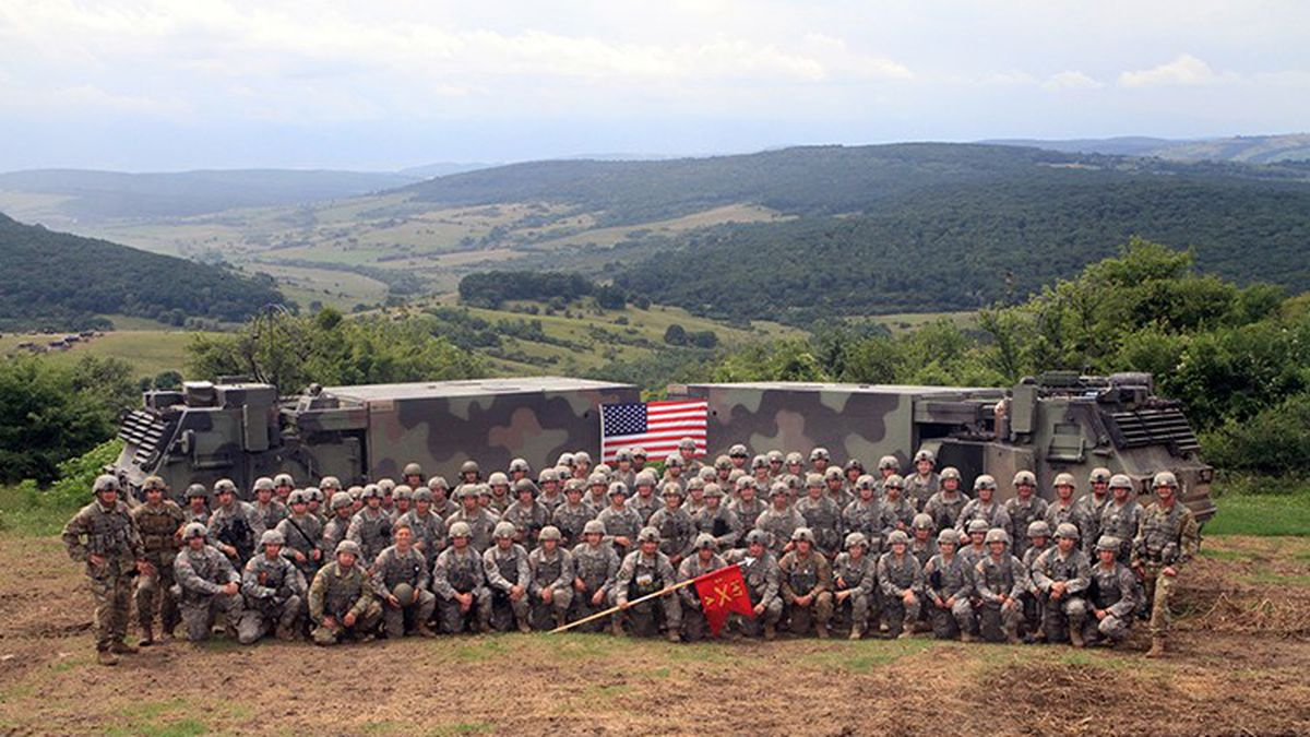 Several South Dakota National Guard units were deployed in eastern Europe for nearly a year (photo courtesy SD Nat'l. Guard)