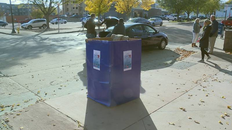 Dozens of people stopped by the Dakota News Now Studios on Saturday to drop off coats for The...