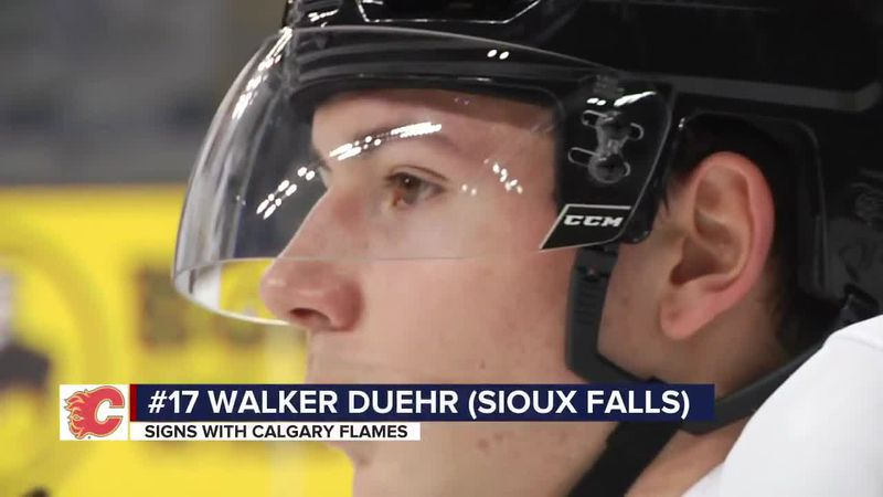 Sioux Falls native Walker Duehr is first SD player to sign with an NHL team