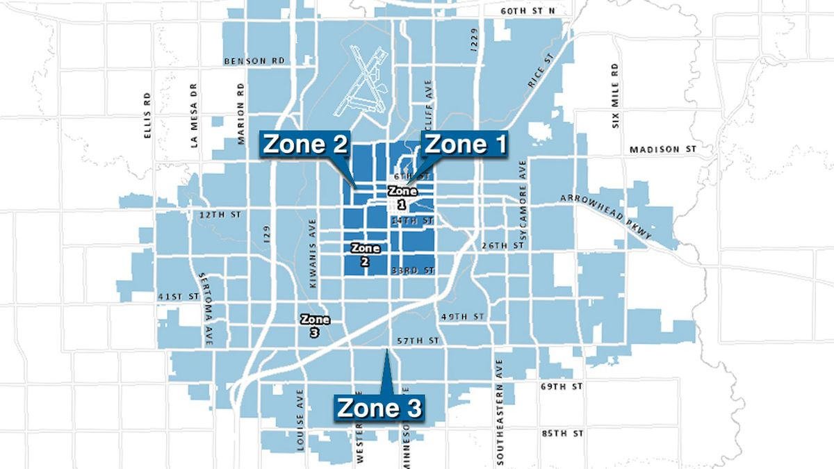 Sioux Falls Snow Alert Zone 3
