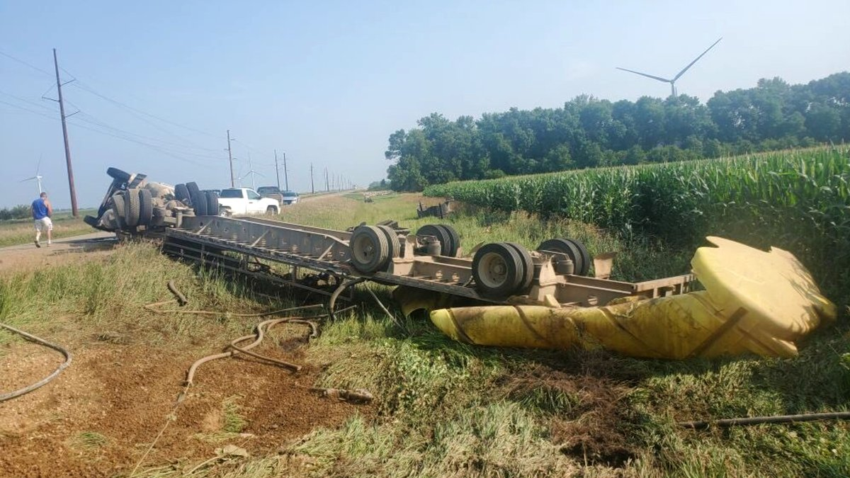 The South Dakota Highway Patrol is investigating a semi rollover near Summit. (Courtesy: South...