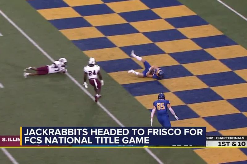 This is the first ever FCS title game for the Jackrabbits.