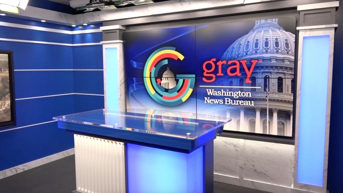 Our new Gray Television Washington News Bureau studio.