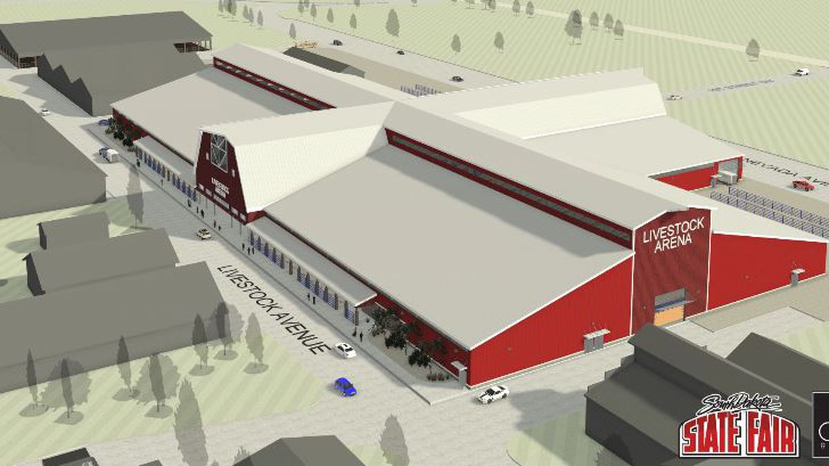 A rendering of a proposed replacement for the livestock complex at the South Dakota state...