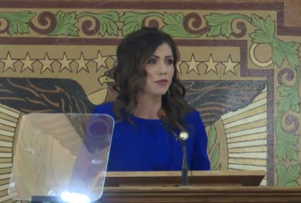 Gov. Kristi Noem delivers plans for South Dakota's 2021 budget in Pierre on Dec. 8, 2020.