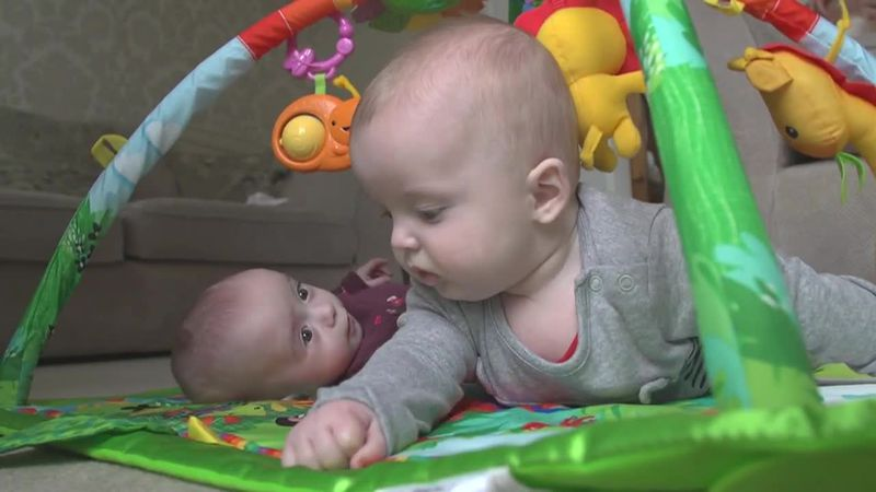 "A mom gives birth to so called ""super twins."" The babies were conceived three weeks apart."