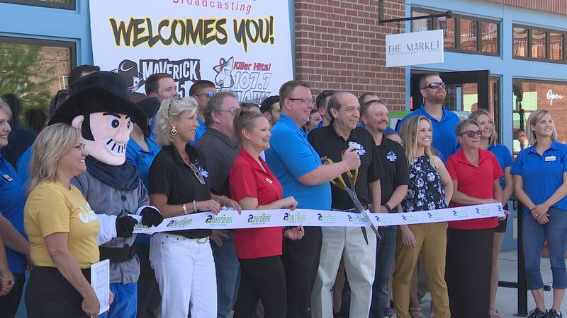 With the ribbon cut, Malchow Plaza in downtown Aberdeen is officially open.