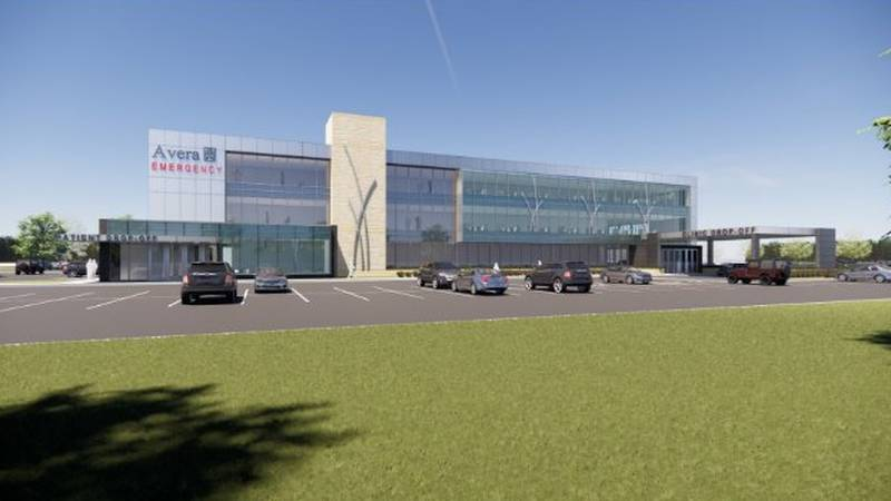 Rendering of Avera's planned Family Health Center in eastern Sioux Falls.