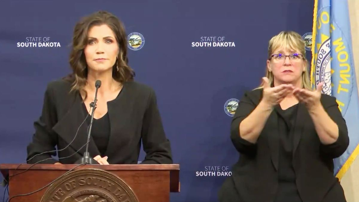 Governor Noem addressed the media in her first COVID-19 briefing since July on Wednesday.