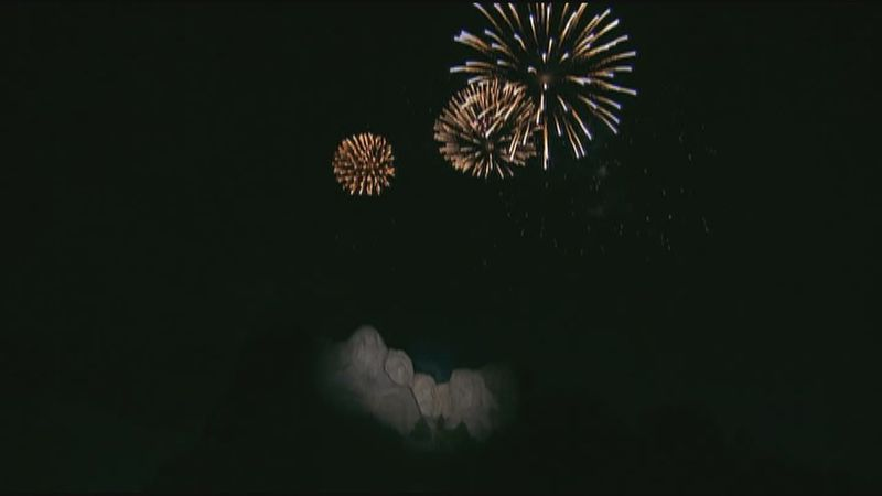 Fireworks over Mount Rushmore on July 4 2020 (file photo)