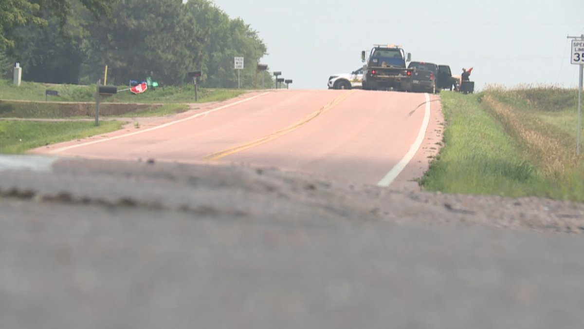 One person is in the hospital after a rollover crash in Minnehaha County.