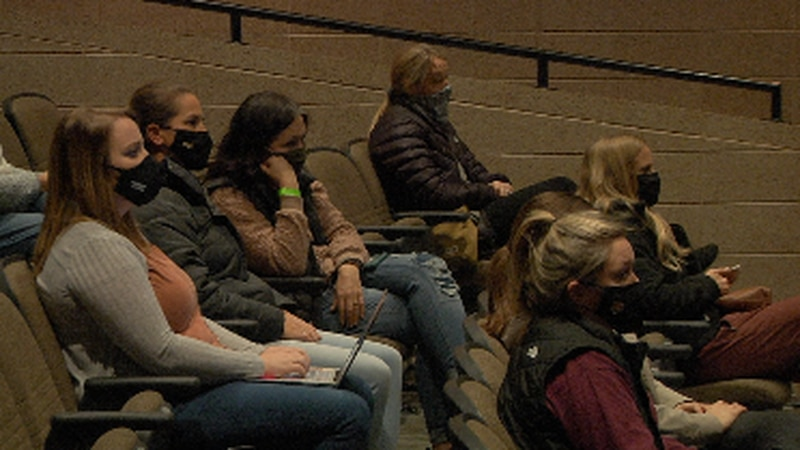 Public in attendance at Harrisburg School Board Special Meeting as the district votes to...