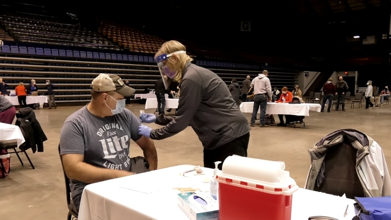 COVID-19 vaccines administered in Sioux Falls