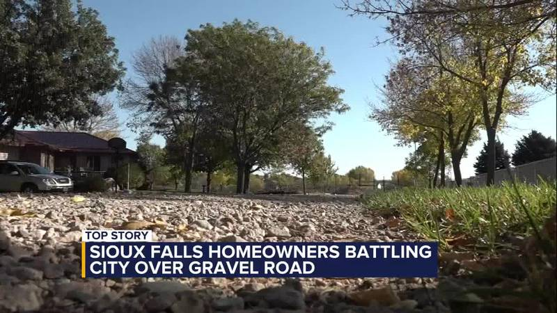 Sioux Falls resident battling against the city in construction of gravel road