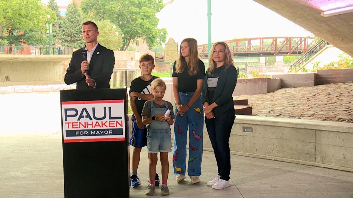 Sioux Falls Mayor Paul TenHaken announced his bid for a second term.