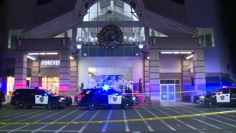 One person is dead and another person injured after a mall shooting in California.