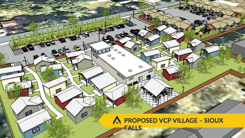 Tiny-home village for homeless veterans set for Sioux Falls