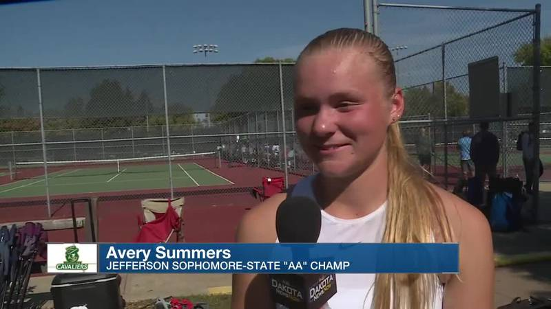 """Avery Summers becomes Jefferson's first state title winner in """"AA"""" Tennis"""