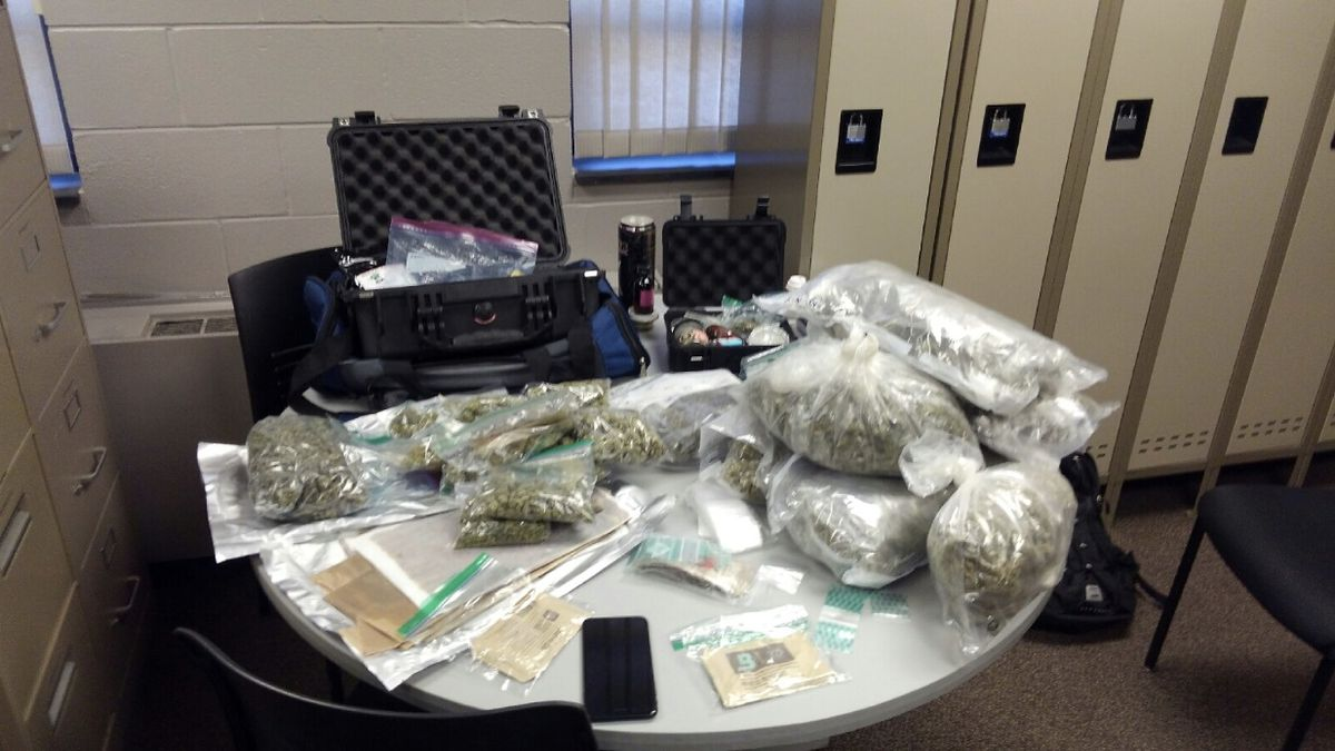 Photo of the drugs seized courtesy of the Brookings County Sheriff's Office