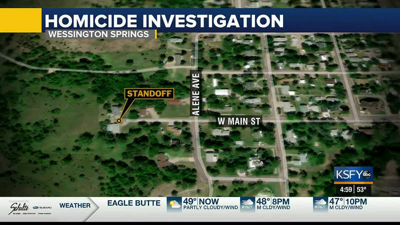 Mitch Caffee of Wessington Springs is in custody during the Homicide investigation