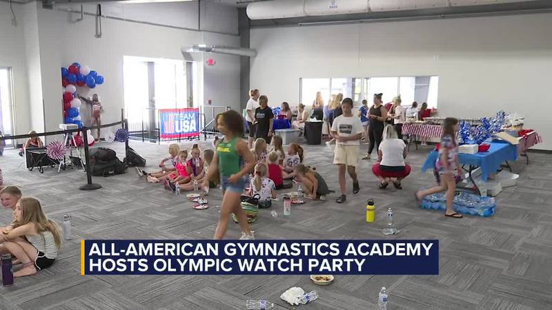 All-American Gymnastics academy Olympic watch party