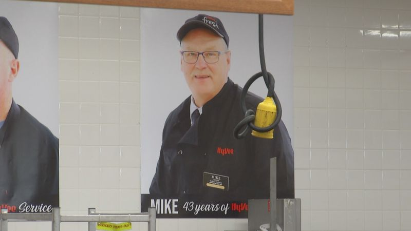 Mike Steffen has worked for Hy-Vee for 43 years