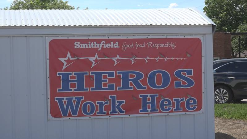 Sign outside Smithfield Sioux Falls facility