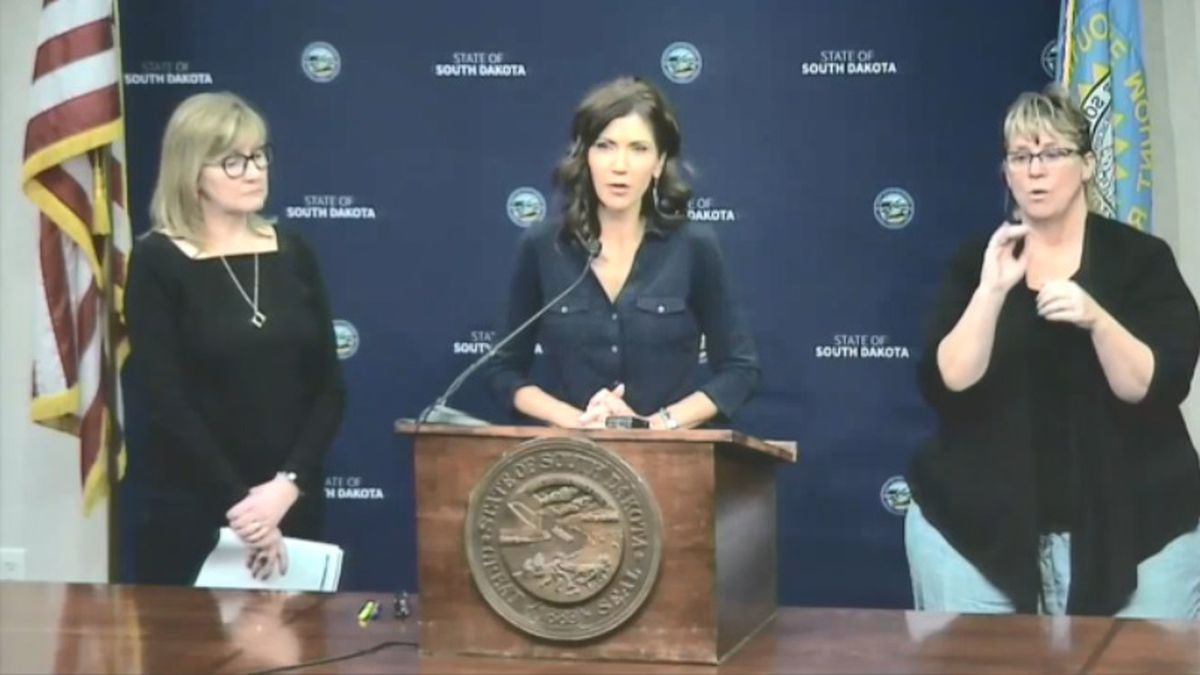 Gov. Kristi Noem and Health Secretary Kim Malsam-Rysdon gave an update Sunday about the spread of COVID-19 in South Dakota.