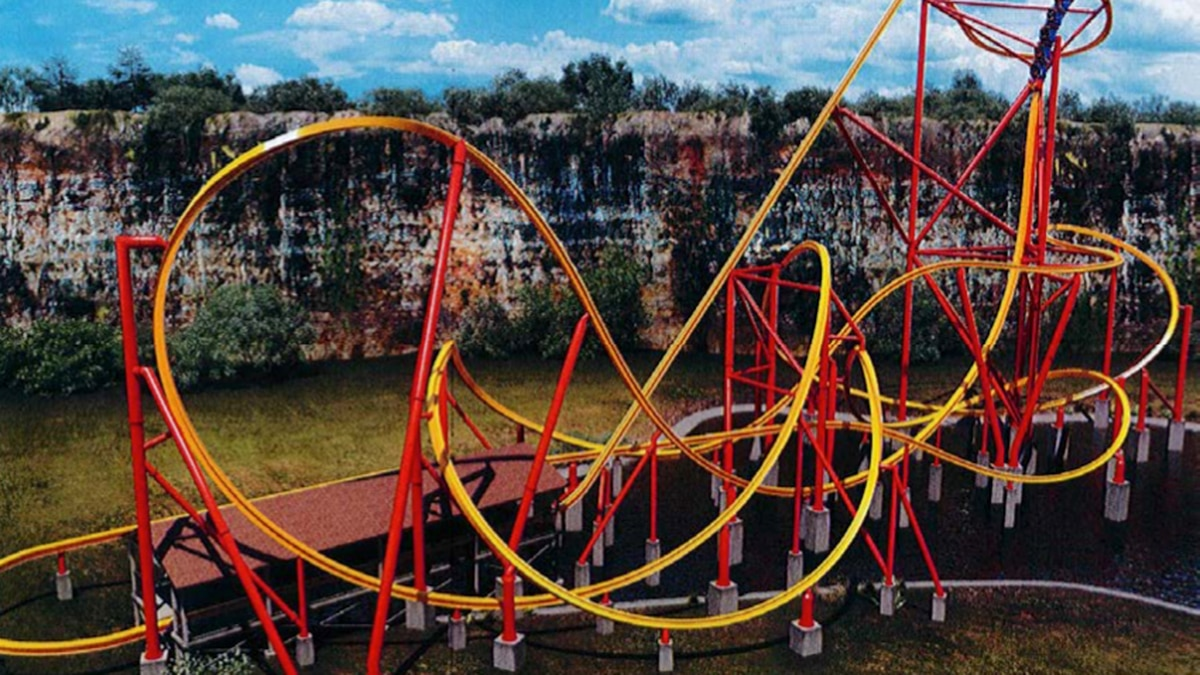 Rendering of the proposed roller coaster included in the plans submitted to the county...