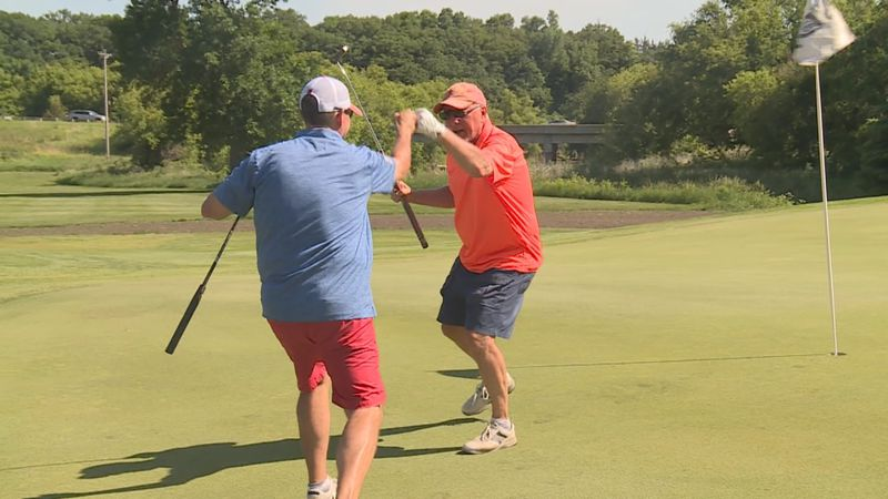 The Junior Achievement 100 Hole Challenge tasked golfers with their longest day of golf.