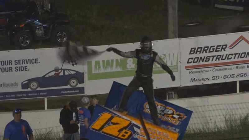 Ramona native wins main event at I-90 Speedway on June 12th