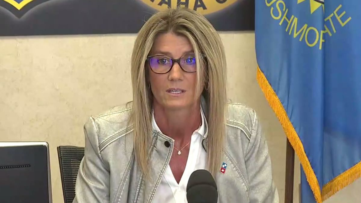 Susan Graves speaks at Tuesday morning's media briefing