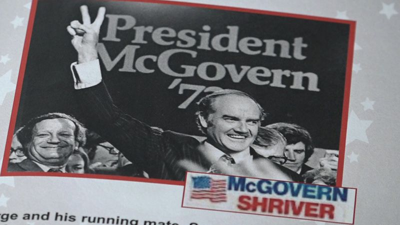 McGovern was the 1972 democrat nominee for president